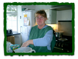 One of our lovely chefs, Barbara