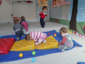 Soft play room for babies