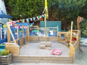 Our galleon sandpit